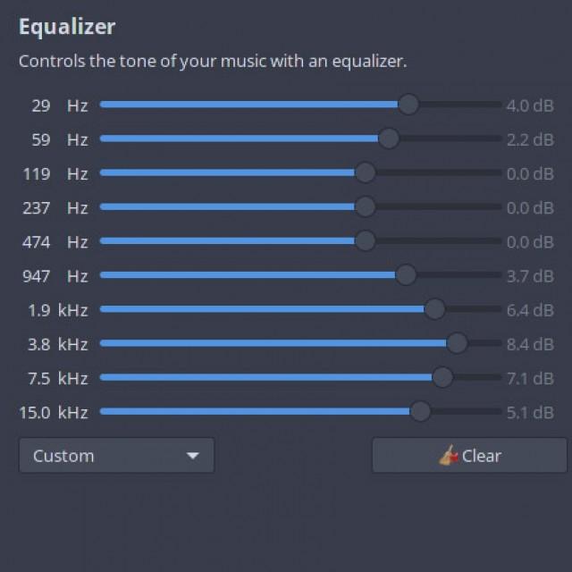 Equalizerwerte