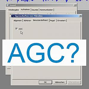 AGC Einstellung in Windows