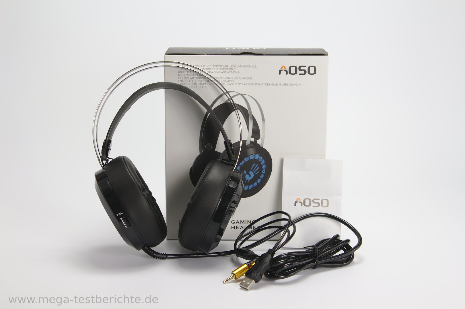 aoso g400 kopfh rer mit mikrofon gamer headset. Black Bedroom Furniture Sets. Home Design Ideas