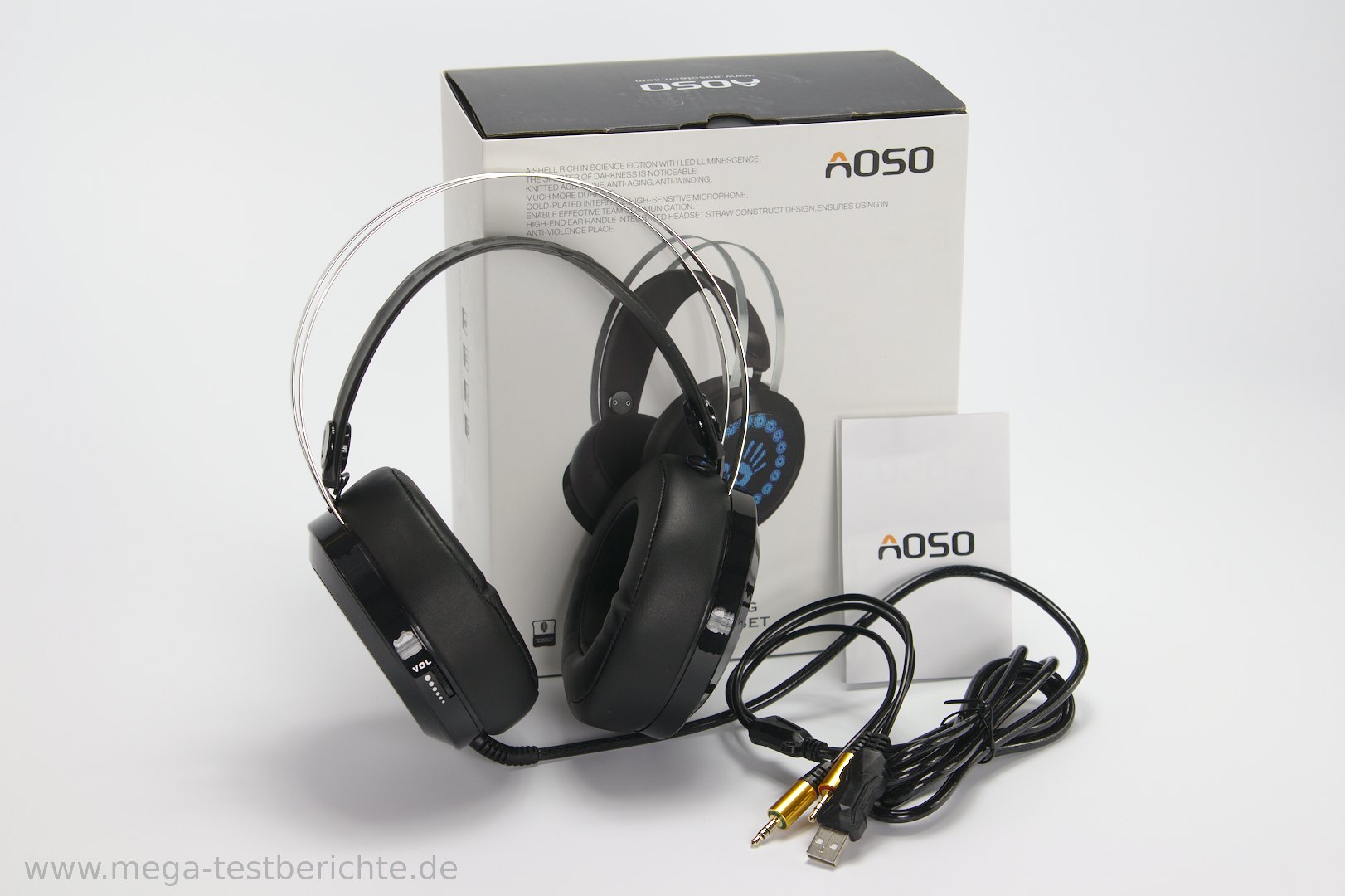 aoso g400 kopfh rer mit mikrofon gamer headset. Black Bedroom Furniture Sets. Home Design Ideas